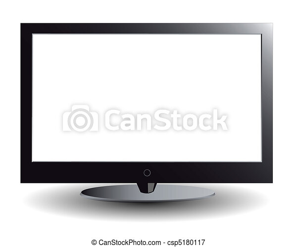 The plasma TV with the white screen - csp5180117