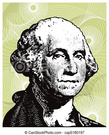 Vectors Illustration of George Washington illustration. csp5180197 ...