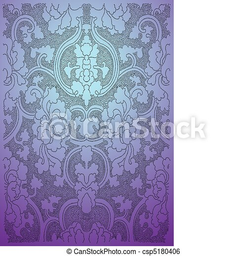 clip art vektor von orientalische tapete steigung bunte tapete csp5180406 suchen sie nach. Black Bedroom Furniture Sets. Home Design Ideas