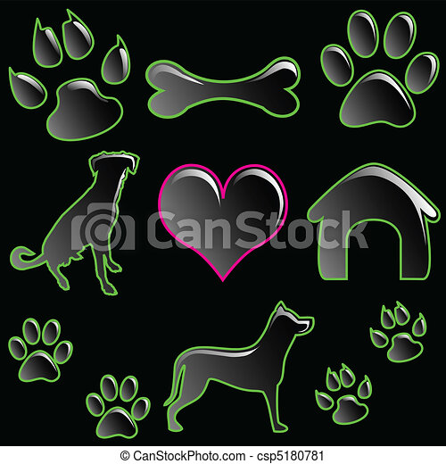 Icon set-Pet - csp5180781