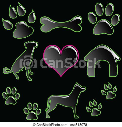 Clipart vettoriali di set pet icona illustrazione di for Piani domestici su ordinazione arizona