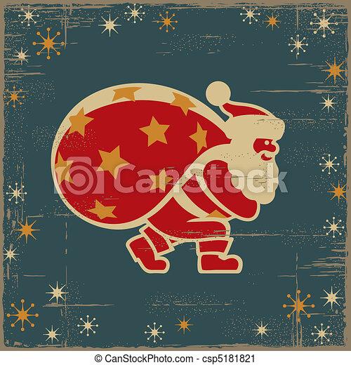 Retro Santa Claus - csp5181821