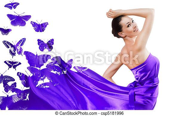 Vestido, largo - csp5181996