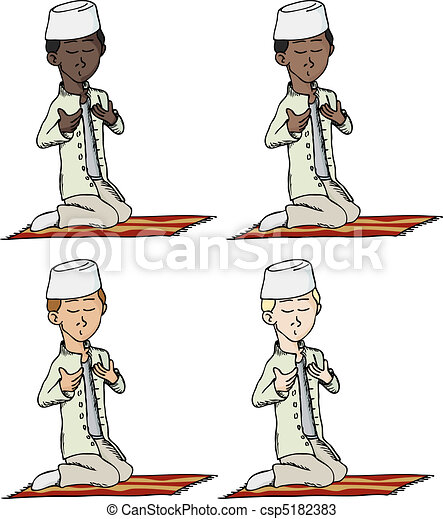 Muslim Boy Praying - csp5182383