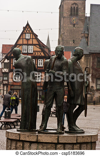 quedlinburg old town unesco - csp5183696