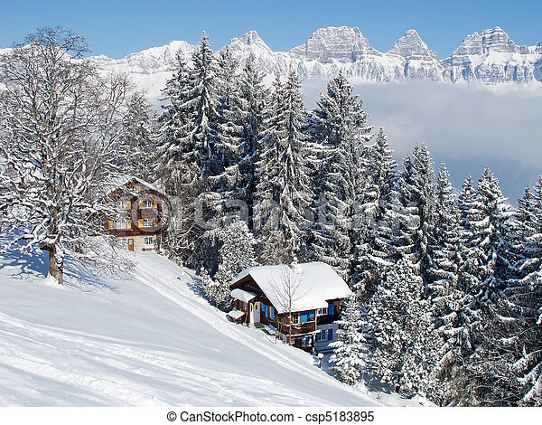 Winter in alps - csp5183895