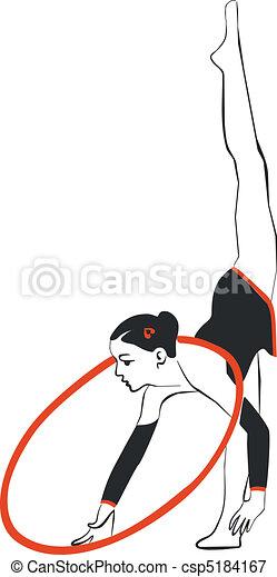 Gymnast in color 02 - csp5184167