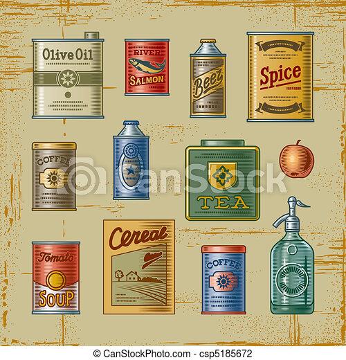Retro grocery set - csp5185672