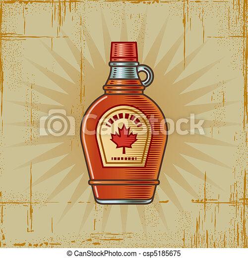 Retro Maple Syrup Bottle - csp5185675