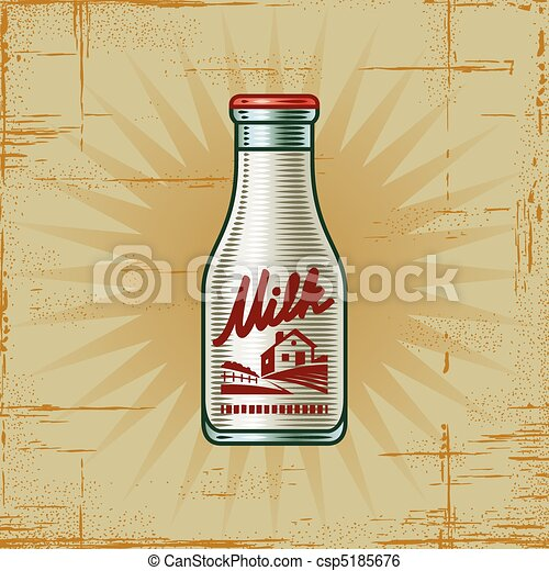 Retro Milk Bottle - csp5185676