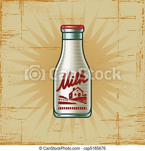 Retro Milk Bottle - csp5185676