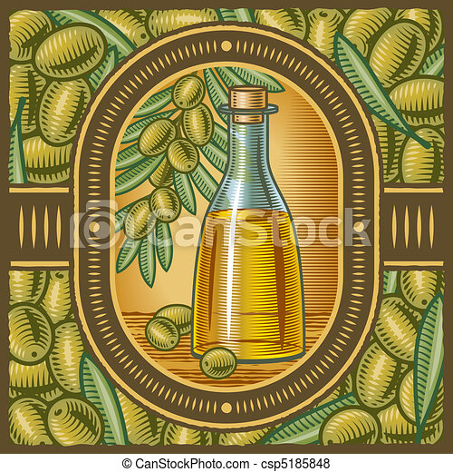 Retro olive oil - csp5185848