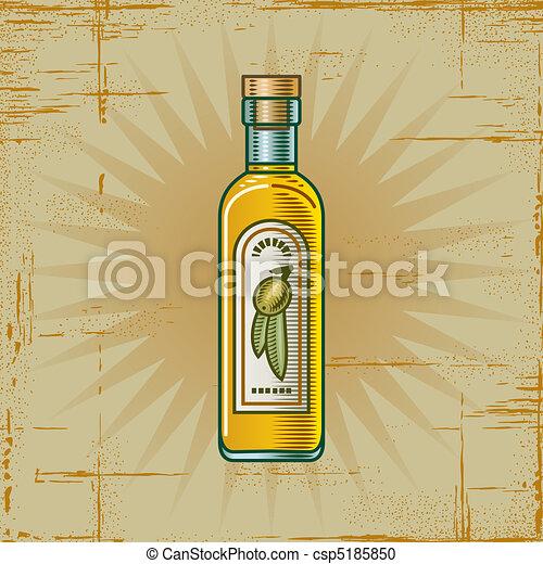 Retro Olive Oil Bottle - csp5185850