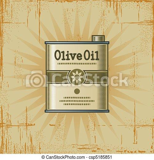Retro Olive Oil Can - csp5185851