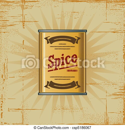 Retro Spice Can - csp5186067