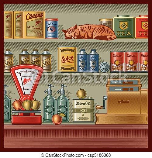 Retro store - csp5186068