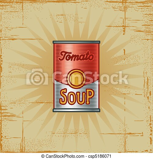 Retro Tomato Soup Can - csp5186071