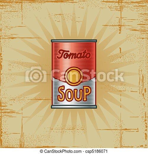 Retro Tomato Soup Can - csp5186071