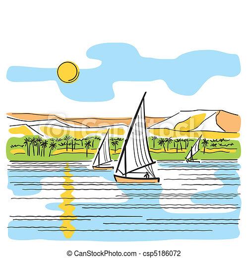 River Nile in Egypt - csp5186072