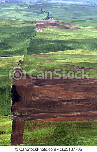 Palouse Farmland - csp5187705