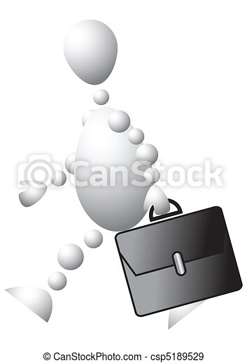 Man with a black briefcase - csp5189529