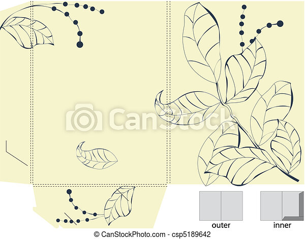 Template for decorative folder  - csp5189642