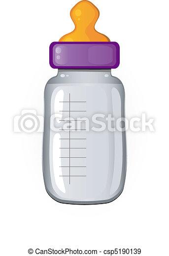 Baby bottle of milk - csp5190139