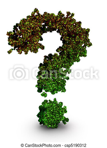 Environmental preservation question concept - csp5190312