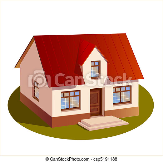 model of three dimensions family  house - csp5191188