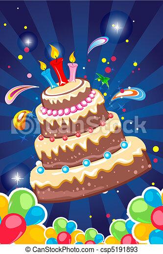 cheerful birthday card - csp5191893