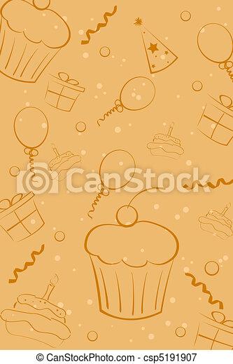 sketchy birthday card - csp5191907