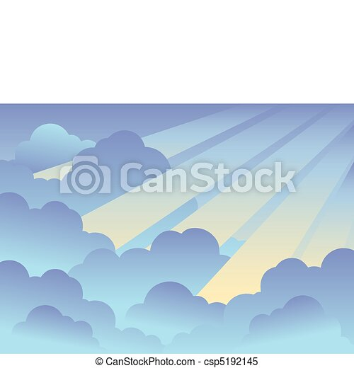 Cloudy sky background 2 - csp5192145