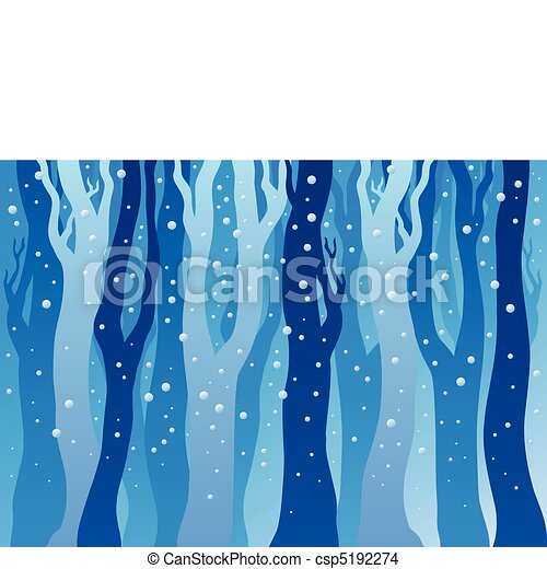 Winter forest with snow - csp5192274