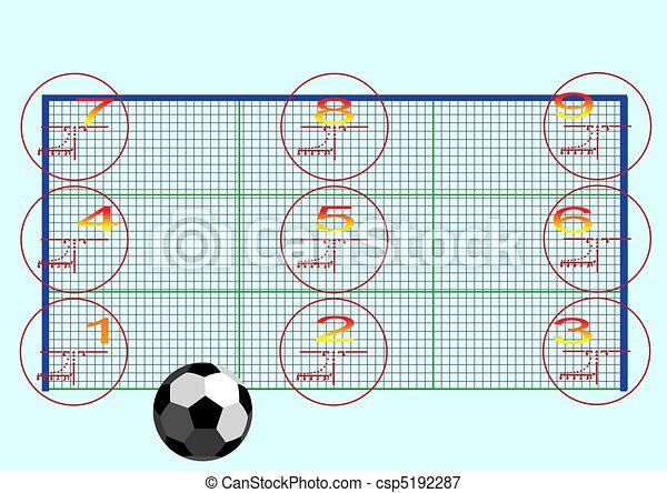 Football goals - csp5192287
