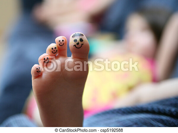 Funny face toes - csp5192588