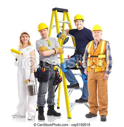 Industrial workers people - csp5192618