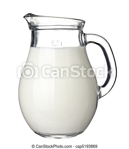 milk in glass food and drink beverage - csp5193869