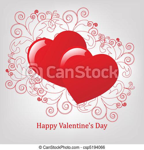Valentines Day Card - csp5194066