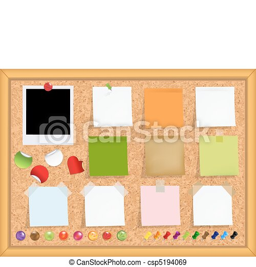 Cork Bulletin Board - csp5194069