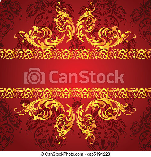 classical floral background - csp5194223