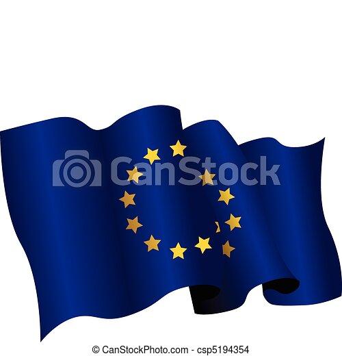 european flag - csp5194354
