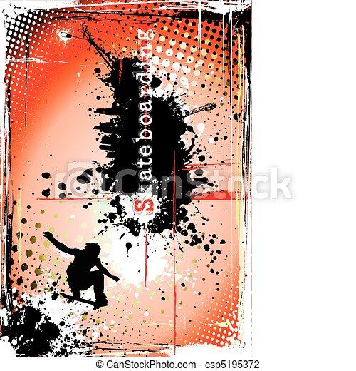 dirty skateboarding poster - csp5195372