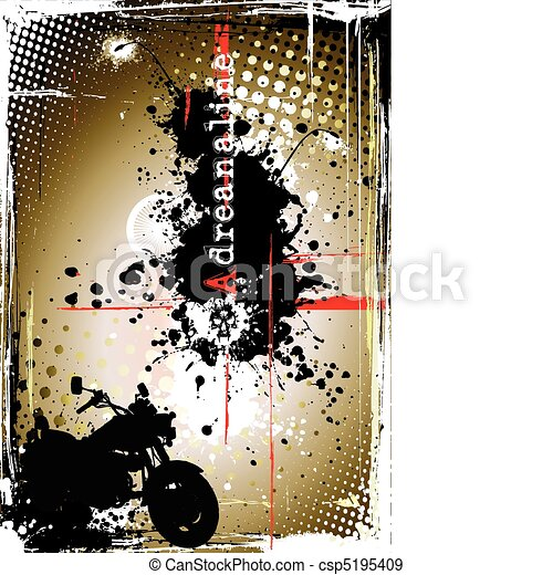 dirty motorcycle poster - csp5195409