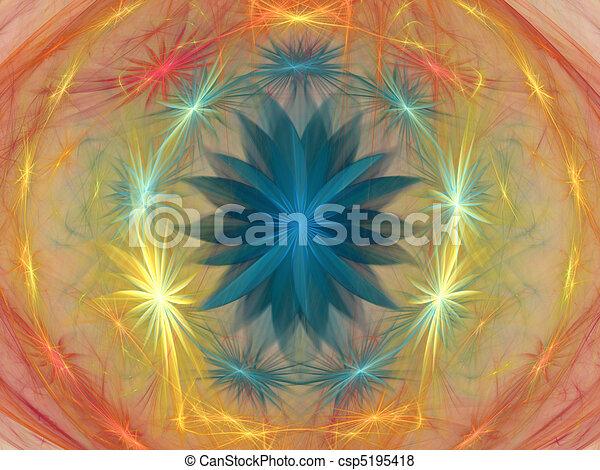 Fractal background - flower fantasy - csp5195418