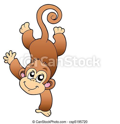 Funny cute monkey - csp5195720