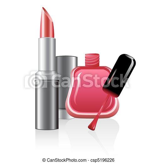 nail polish and lipstick - csp5196226
