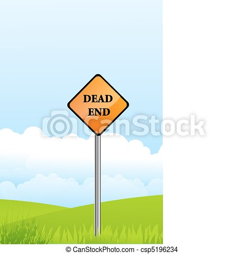 dead end pole on natural background - csp5196234
