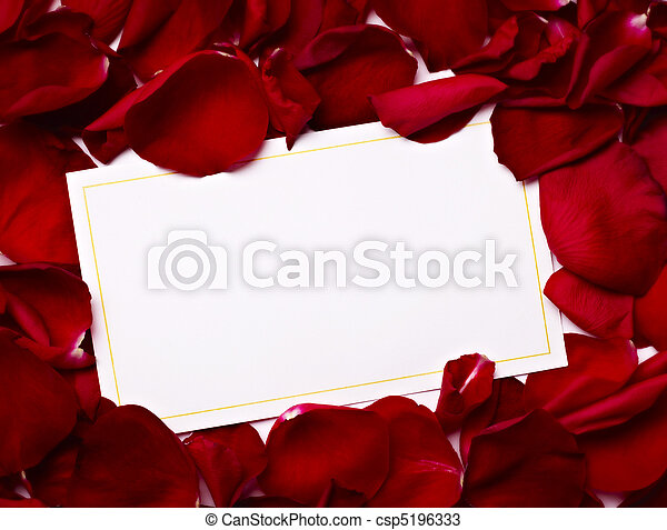 greeting card note rose petals celebration christmas love - csp5196333