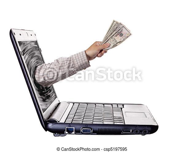 bankrörelse, Direkt - csp5197595