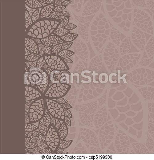 Leaf pattern border and background - csp5199300
